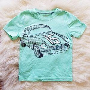 Little Boy Carter's Car T-Shirt in Teal